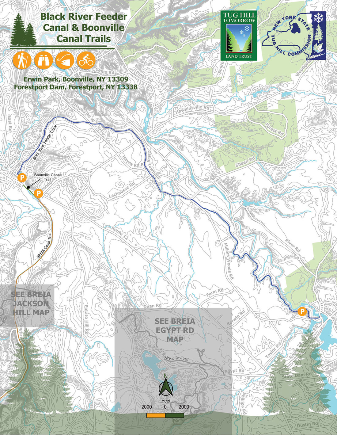 Boonville Canal Trail Map