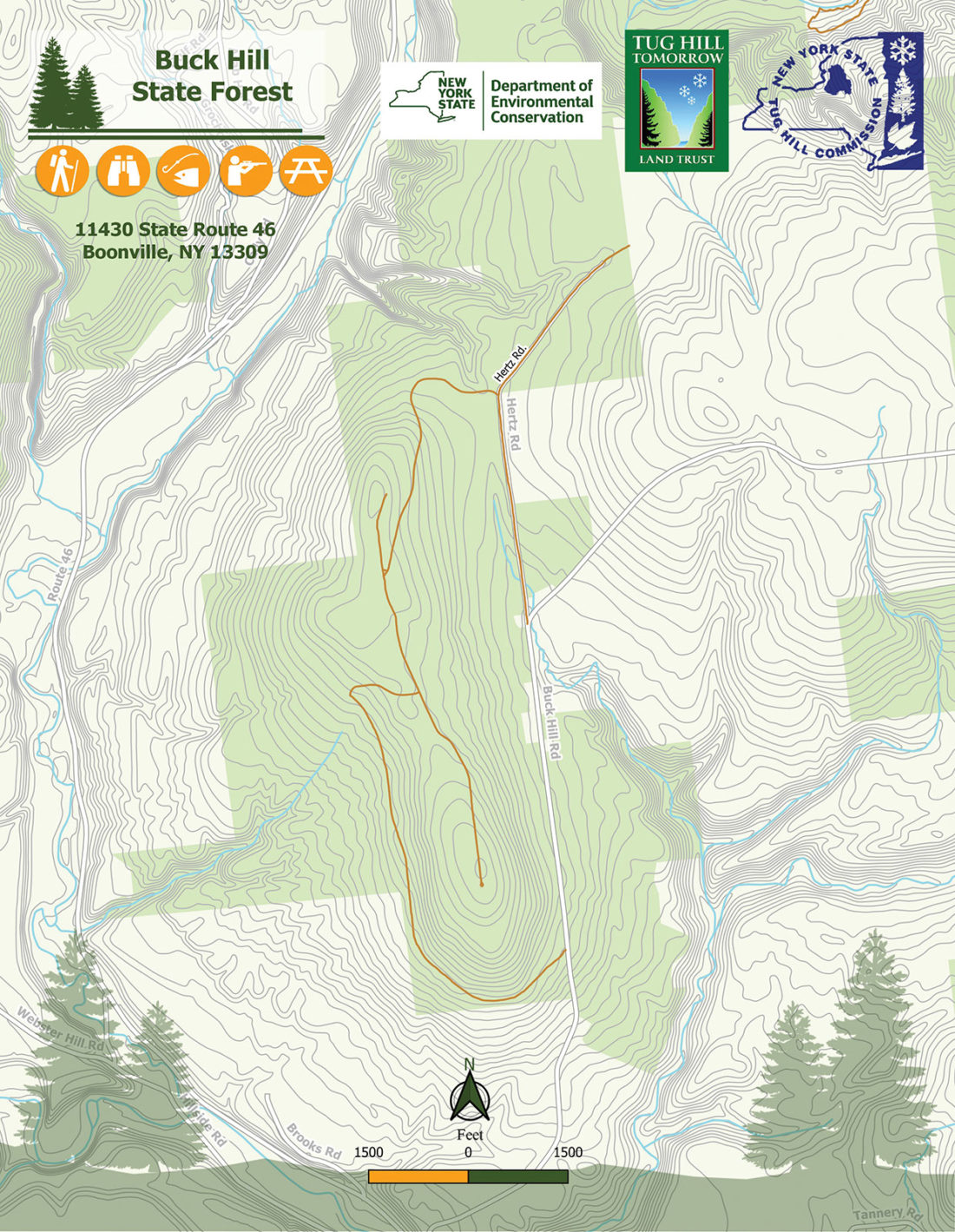 Buck Hill State Forest Map