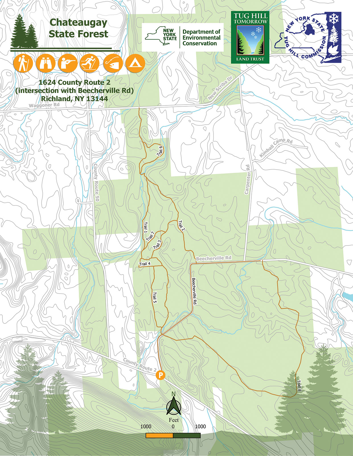 Chateaugay State Forest Map