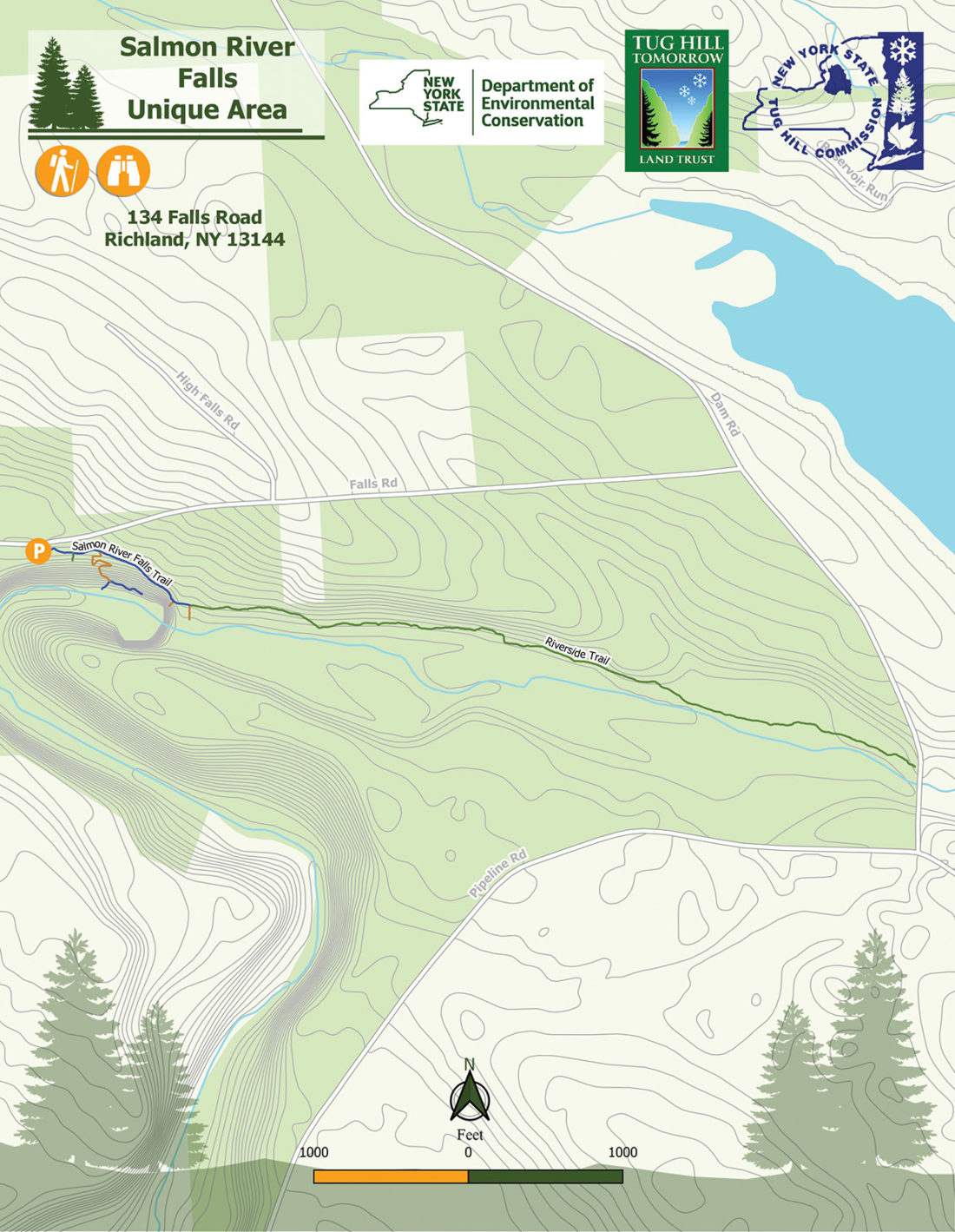 Salmon River Falls Map