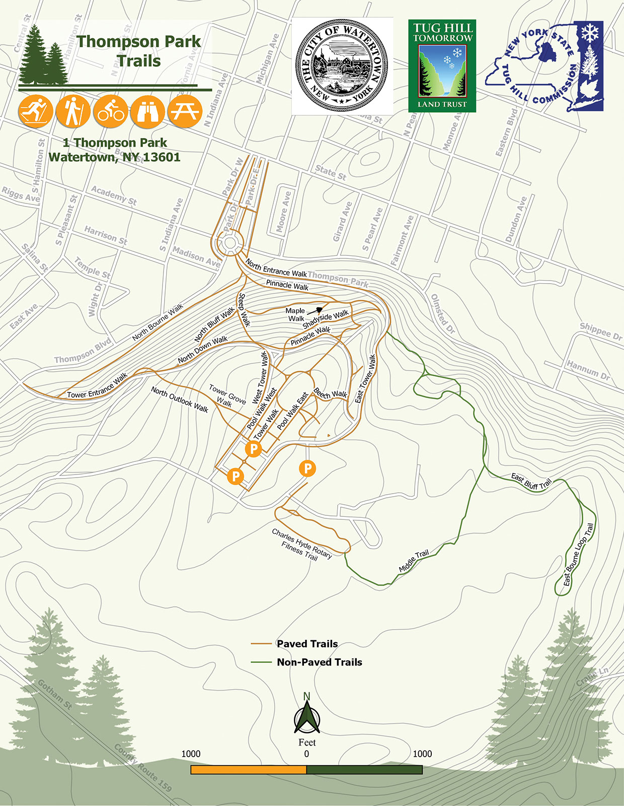 Thompson Park Map