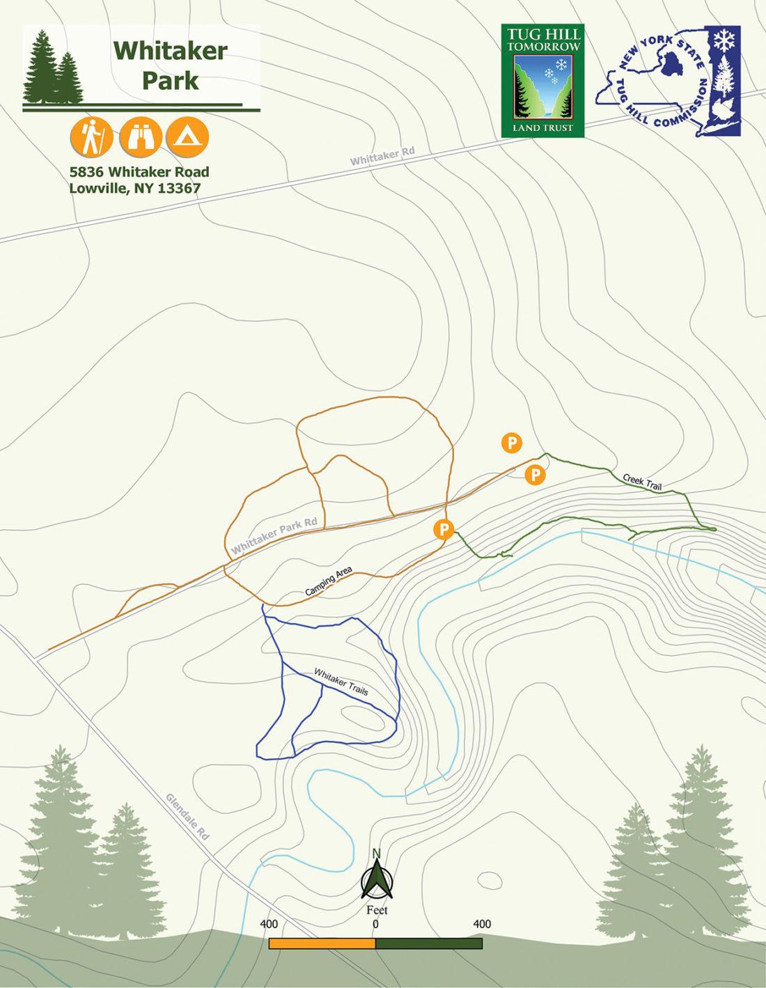 Whitaker Park Trail Map